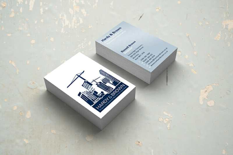 Hardy and Brown business cards.