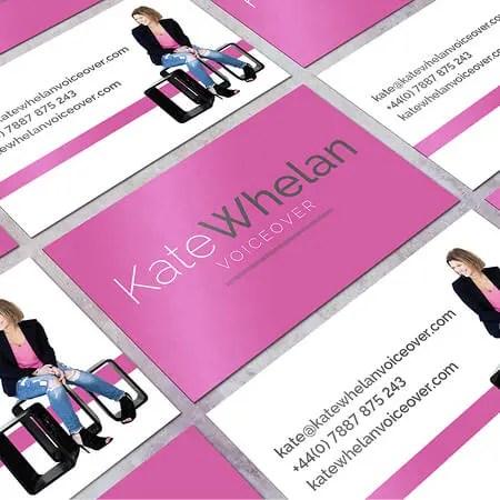 B Double E Kate Whelan Voiceover branding and socials.