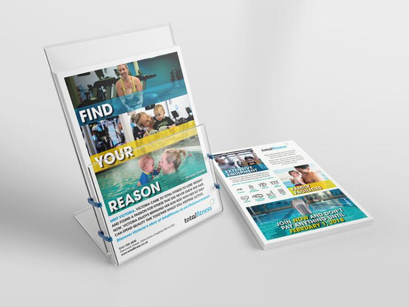 Total Fitness Find Your Reason campaign leaflet