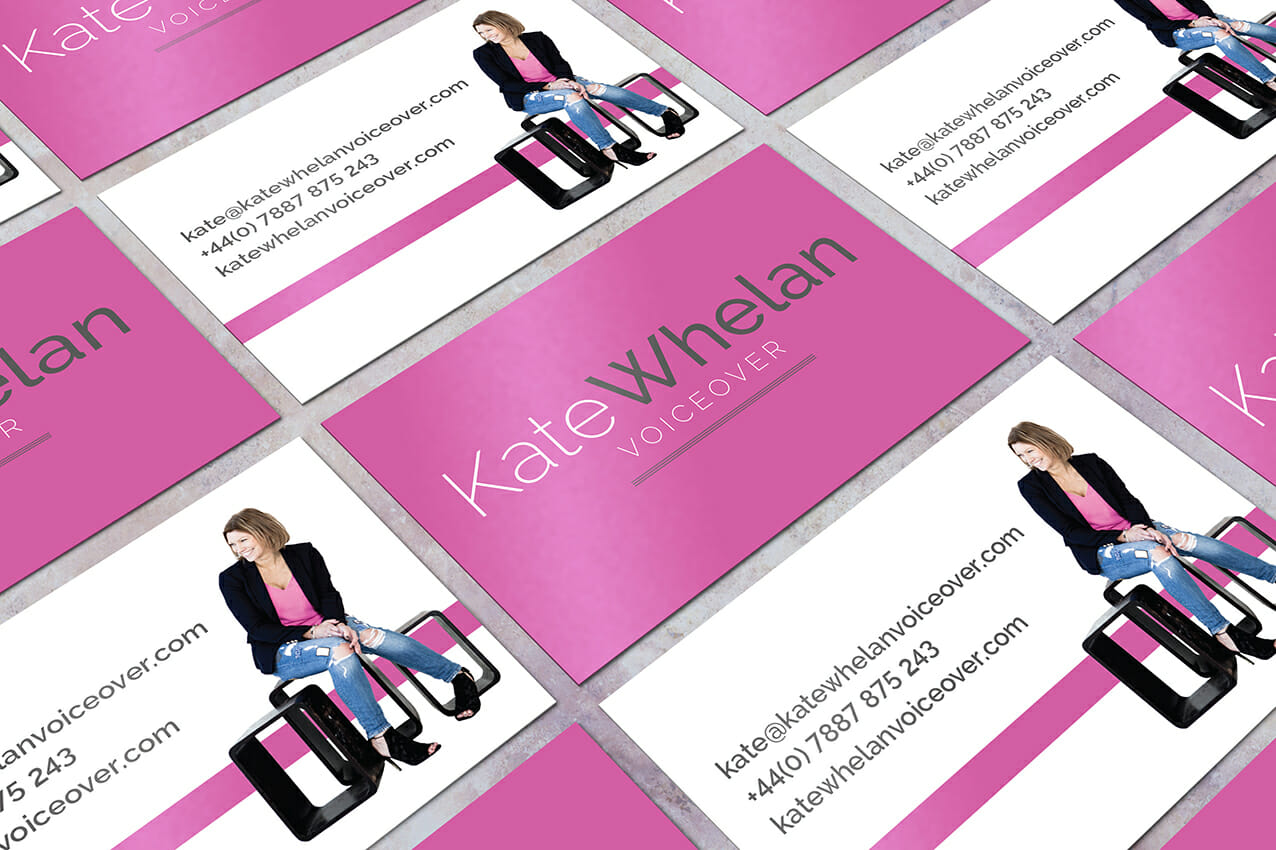 Kate Whelan Voiceover branding business cards