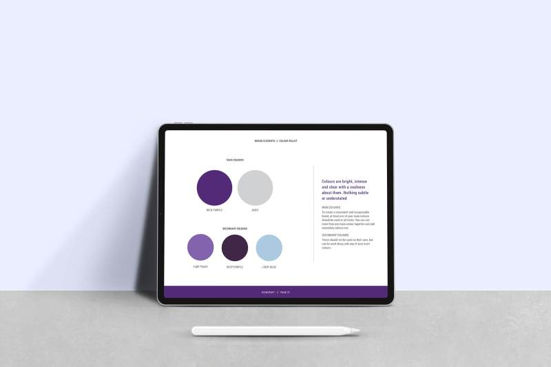 Richcraft brand guidelines colour palette.
