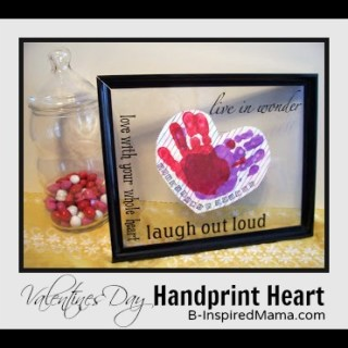 Kids Hand Print Heart Valentine [from the archives]