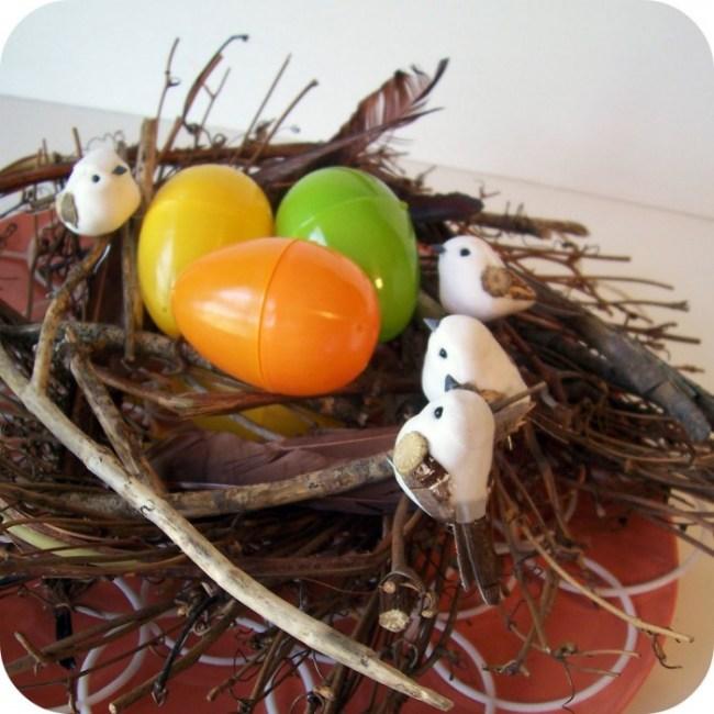 Twig Nest Easter Craft at B-InspiredMama.com