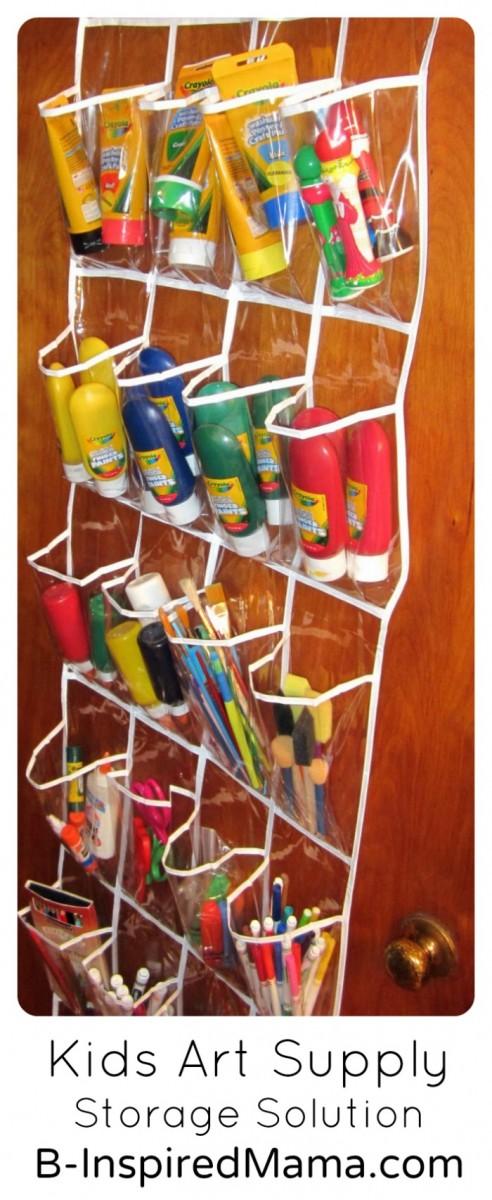 Keeps Kids' Art Supplies Handy and Organized