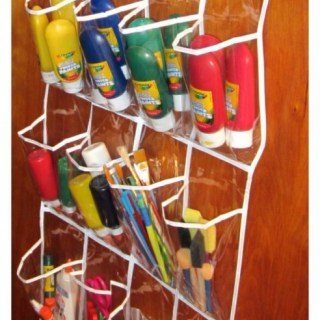 Keeps Kids' Art Supplies Handy and Organized