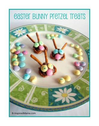 Easy Easter Bunny Treats at B-InspiredMama.com
