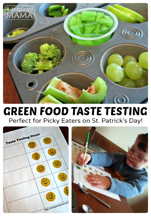 Green Food Taste Testing for Picky Eaters + FREE Chart