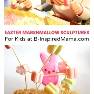 Marshmallow Sculptures Easter Craft for Kids
