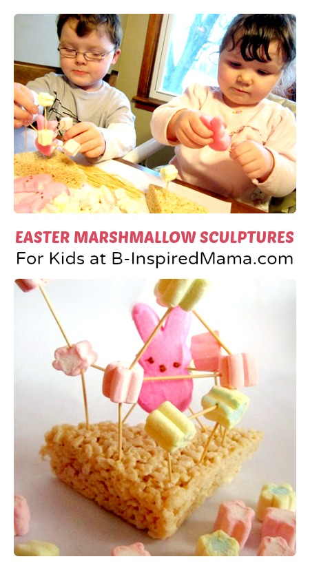 Marshmallow Sculptures Easter Craft at B-Inspired Mama