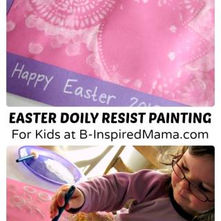 Simple Easter Doily Painting