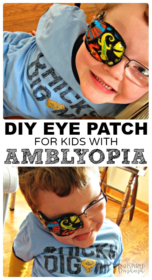 DIY Eye Patches for Kids with Amblyopia - an easy sewing tutorial any mom can make - at B-Inspired Mama