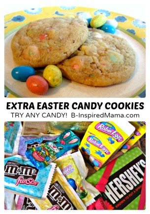 Extra Easter Candy Cookies Recipe at B-Inspired Mama