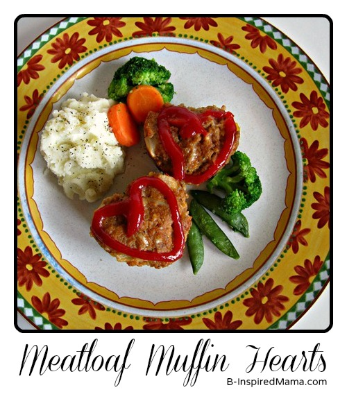 Valentines Day Recipe [Heart Meatloaf Muffins]