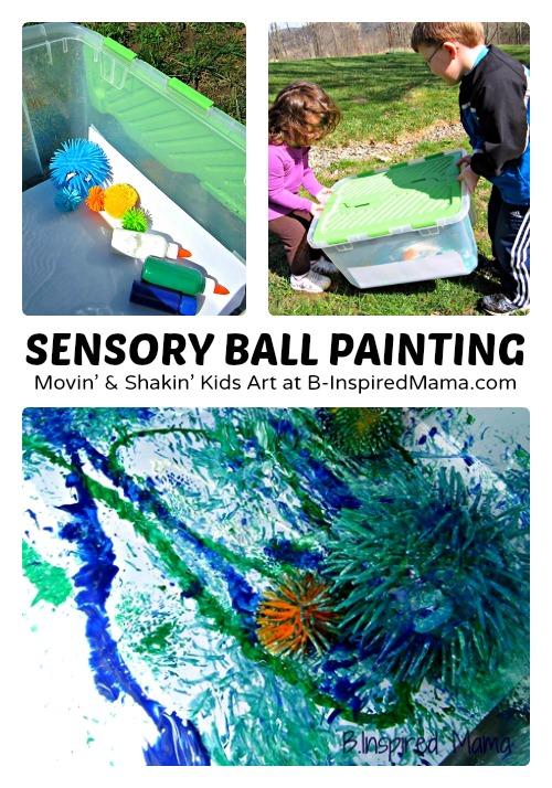 Silly Sensory Ball Kids Painting