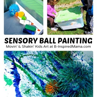 Silly Sensory Ball Kids Painting