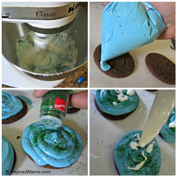 Steps to Make Easy Earth Day Cookies at B-InspiredMama.com