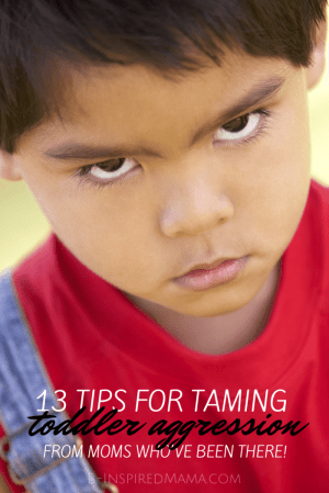 13 Tips for Taming Toddler Aggression - From the Mouths of Moms - at B-Inspired Mama