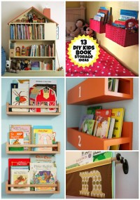 A DIY Wall Book Display with Baskets + 12 More Kid's Book