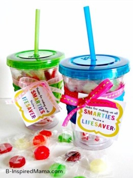 Smarties and Lifesaver Teacher Appreciation Gift with Printable at B-Inspired Mama