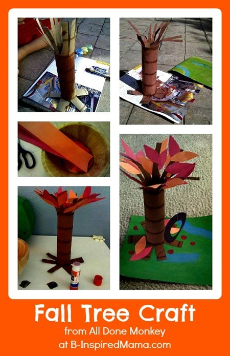 A Fall Tree Craft from All Done Monkey at B-Inspired Mama