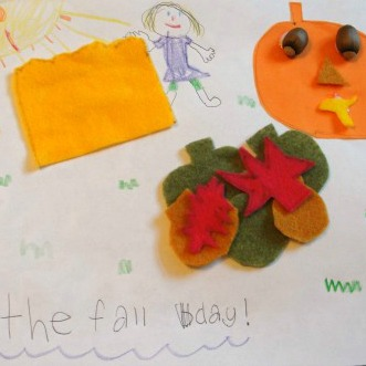 Fall Fun Book Craft from Kitchen Counter Chronicles at B-Inspired Mama 2