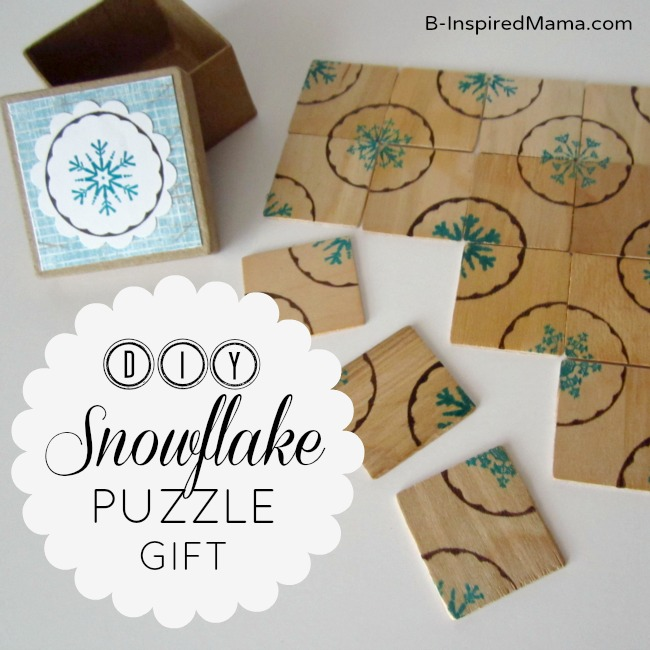 DIY Snowflake Puzzle for PSA Essentials by B-InspiredMama.com