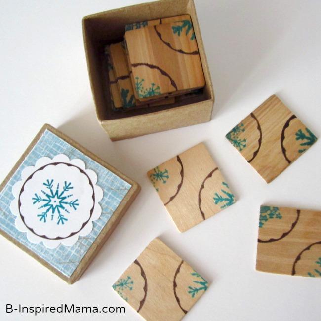 DIY Snowflake Puzzle with PSA Essentials at B-InspiredMama.com