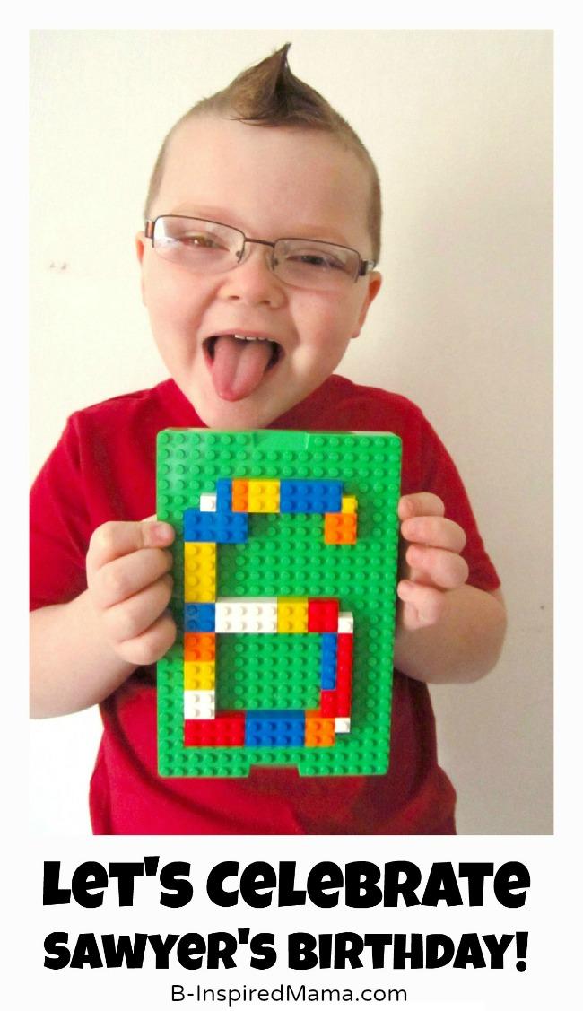 Sawyer's Lego Birthday Party Invitation at B-Inspired Mama