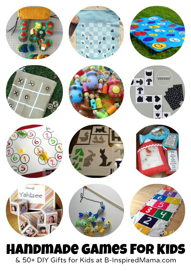 Games to Make for Kids + 50 More DIY Gifts at B-InspiredMama.com