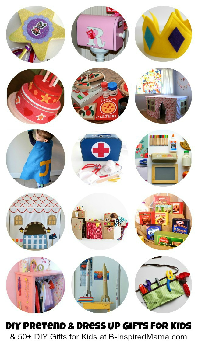 Pretend and Dress Up Gifts to Make for Kids at B-InspiredMama.com