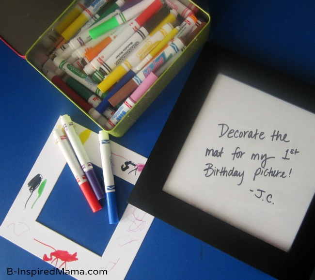 First Birthday Party Picture Frame at B-InspiredMama.com