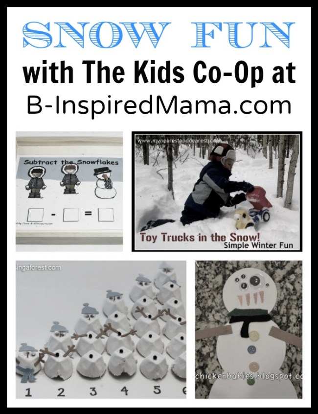 Snow Fun with The Kids Co-Op at B-InspiredMama.com