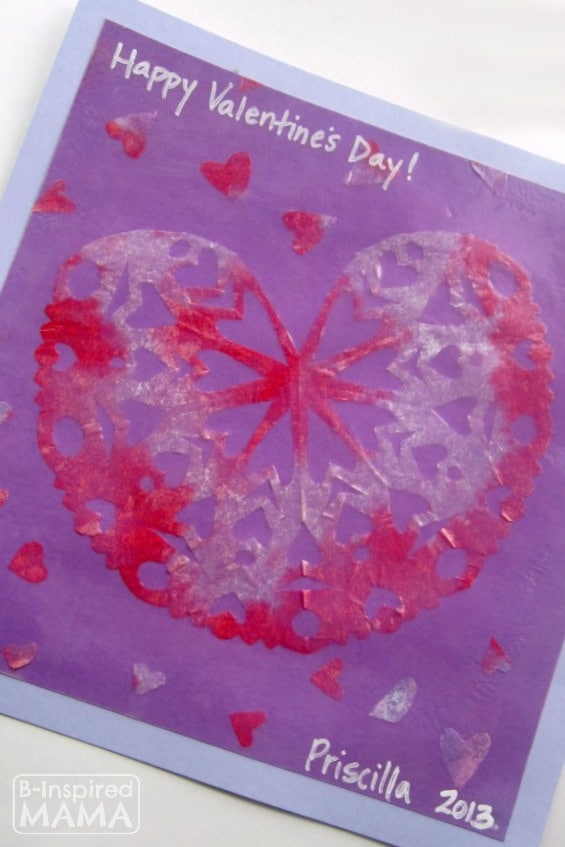 Kids Snowflake Valentine Craft - B-InspiredMama.com
