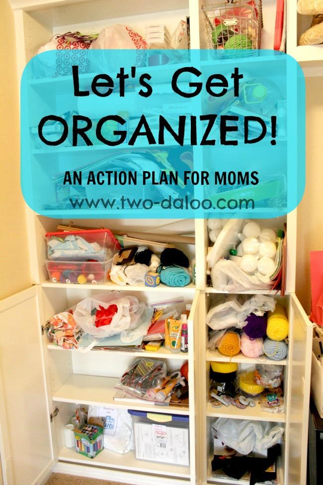 Tips & Resources to Get Organized for Moms at B-InspriedMama.com