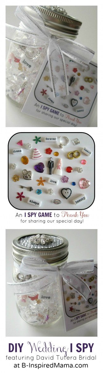 DIY I SPY Kids Wedding Favor at B-InspiredMama.com