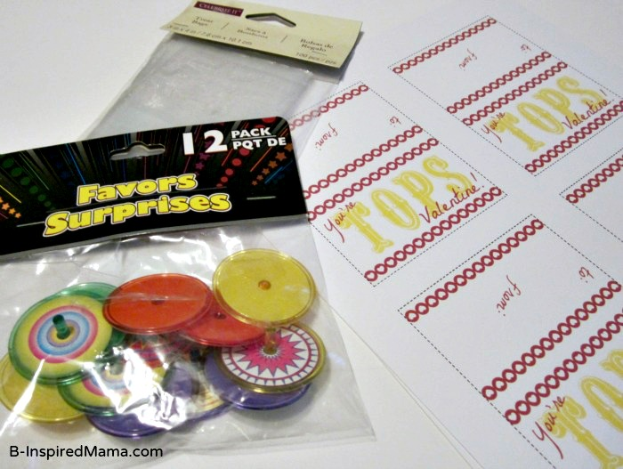You're Tops Valentine Printable Supplies at B-Inspired Mama