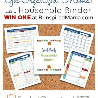 Giveaways for Kids Monday [Household Binder Giveaway]