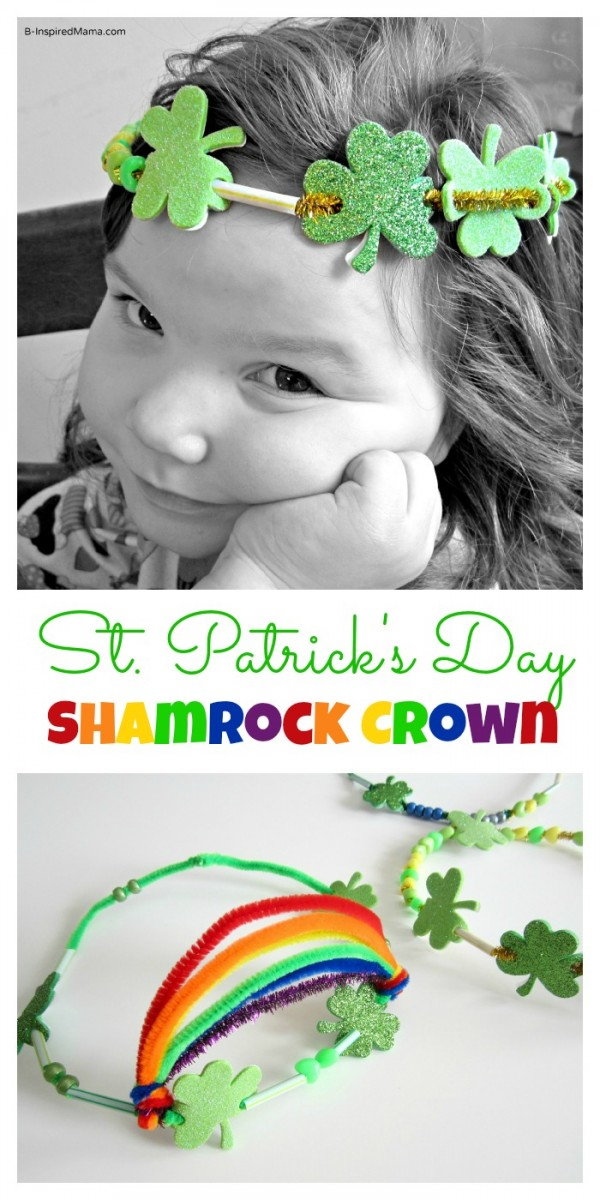 St Patrick Craft Crown at B-InspiredMama.com