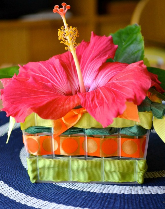 Kids Mothers Day Woven Basket Craft from Hand Made Kids Art at B-InspiredMama.com