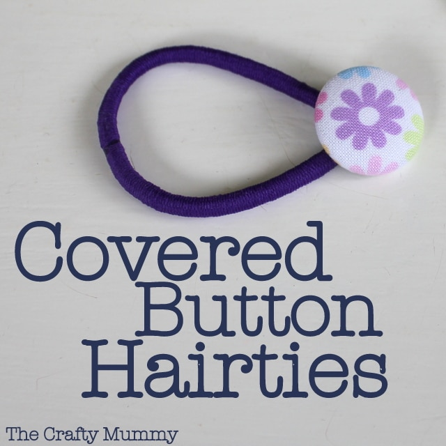 Covered Button Hair Tie Mama Craft from The Crafty Mummy at B-InspiredMama.com