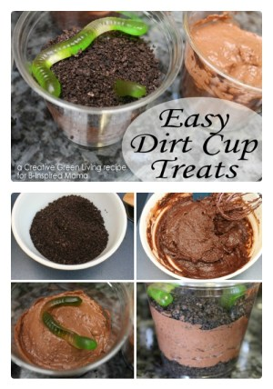 Earth Day Dirt Cup Treat Recipe at B-Inspired Mama