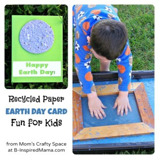 Kids Earth Day Recycled Paper Card [From the Mamas]