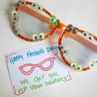 Silly Glasses for Dad [Sponsored by VSP Vision Care]