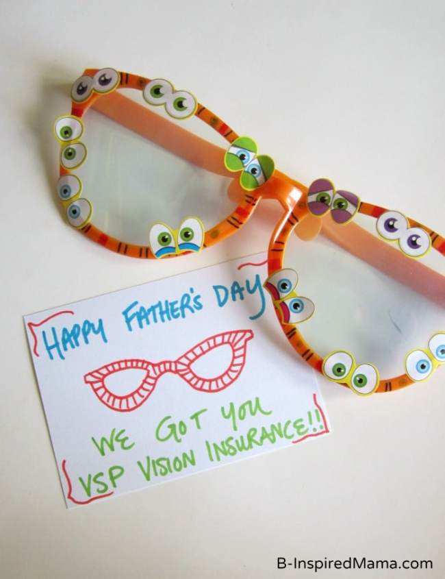 Dad, We Got You VSP Vision Insurance for Father's Day! - B-InspiredMama.com