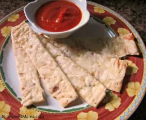 Flatbread Garlic Kids Pizza Sticks with Flatout Flatbread at B-InspiredMama.com