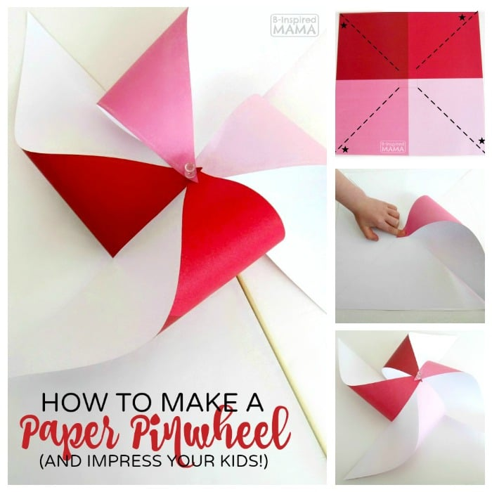 How to Make a Pinwheel - And TOTALLY Impress Your Kids - The Perfect Summer Craft - at B-Inspired Mama
