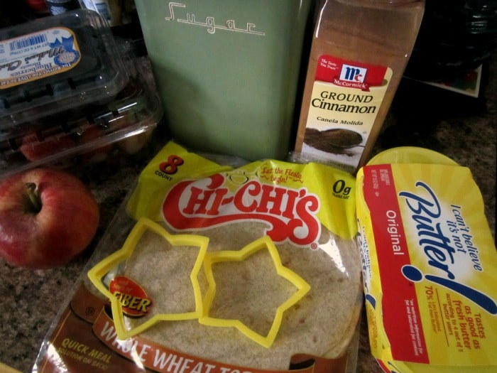 Ingredients for Patriotic Fruit Salsa and Star Chips at B-InspiredMama.com