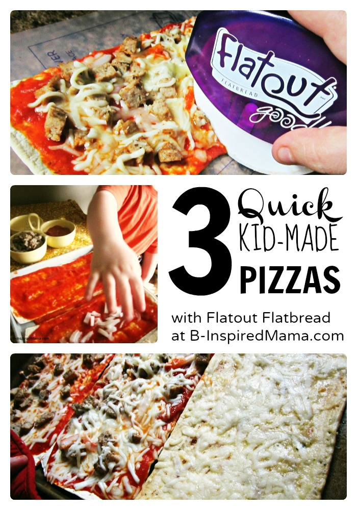 Quick Kids Pizza Making [Sponsored by #FlatoutGood Flatbread]