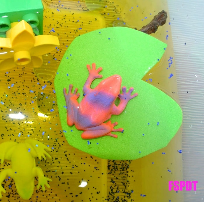 Sensory Play Frog Pond from Frogs and Snails and Puppy Dog Tails at B-InspiredMama.com