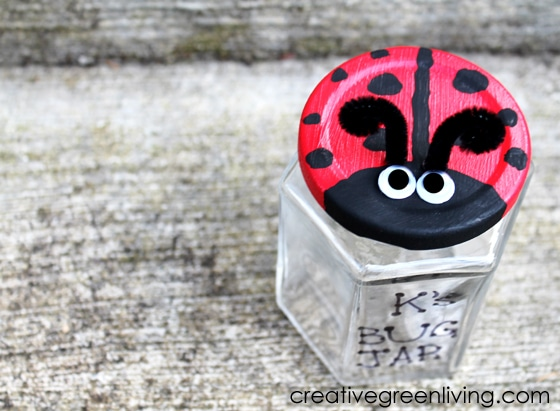 Kids Ladybug Bug Jar Craft from Creative Green Living at B-InspiredMama.com